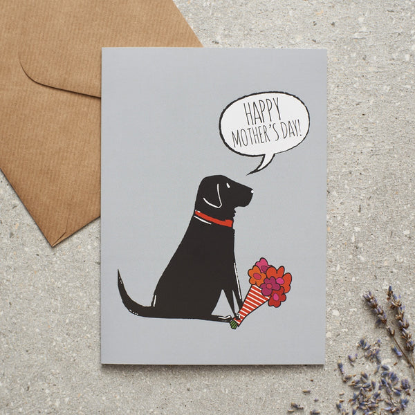 Black Lab Mothers Day Dog Greetings Card By Sweet William
