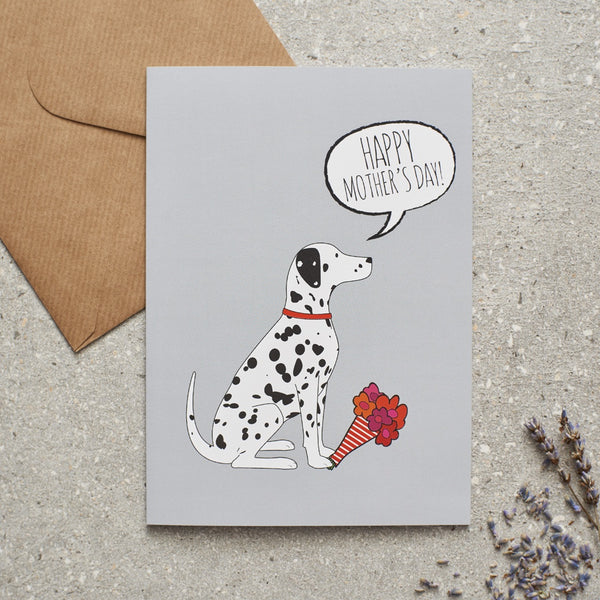 Dalmatian Mothers Day Dog Greetings Card By Sweet William