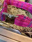 Harris Tweed Pink Dog Collar By Urban Tails