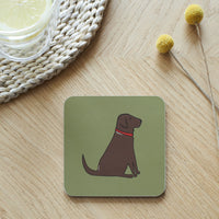 Chocolate Lab Dog Coaster By Sweet William