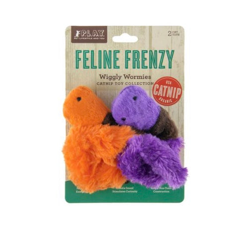 Feline Frenzy Wiggly Worms Cat Toys By P.L.A.Y