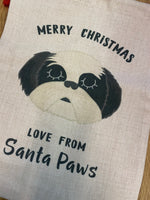 Santa Paws Dog Christmas Choc Lab Sack By Hoobynoo