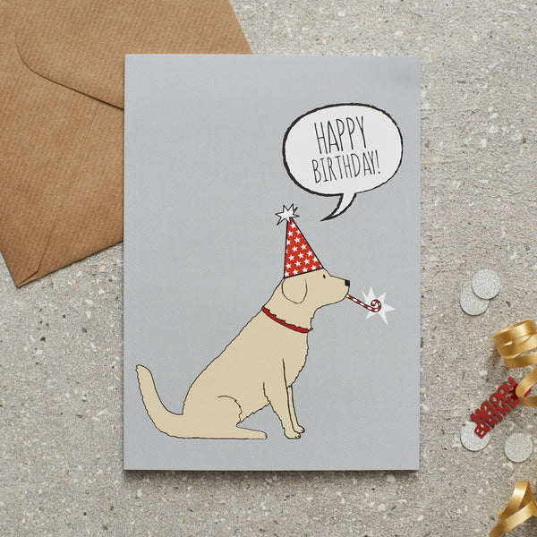Golden Retriever Birthday Dog Greetings Card By Sweet William