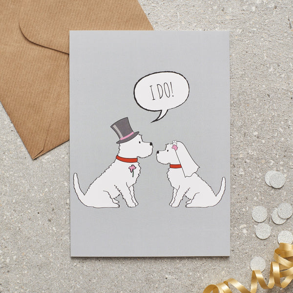 Westie Wedding Greetings Card By Sweet William