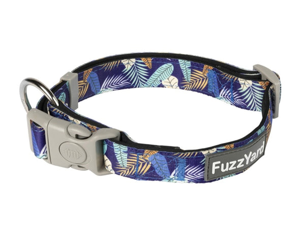 Mahalo Leaf Print Dog Collar By Fuzzyard
