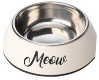 Meow Cream Cat Bowl By House Of Paws