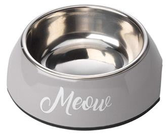 Meow Grey Cat Bowl By House Of Paws
