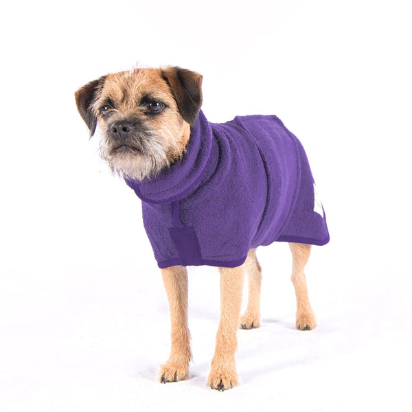 Heather Classic Dog Drying Coat By Ruff & Tumble