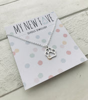 Paw Print Necklace By My New Fav