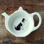 Border Collie Tea Bag Dish By Sweet William