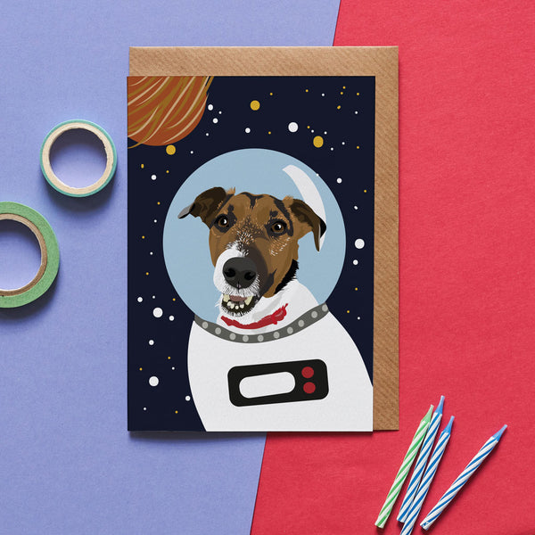 Jack Russel Dog Greeting Card By Lorna Syson