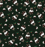 Frenchie Pudding Christmas Wrapping Paper By Lorna Syson