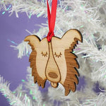 Border Collie Dog Wooden Decoration By Hoobynoo