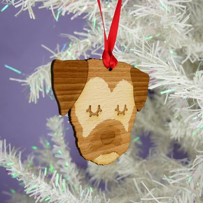 Border Terrier Dog Wooden Decoration By Hoobynoo