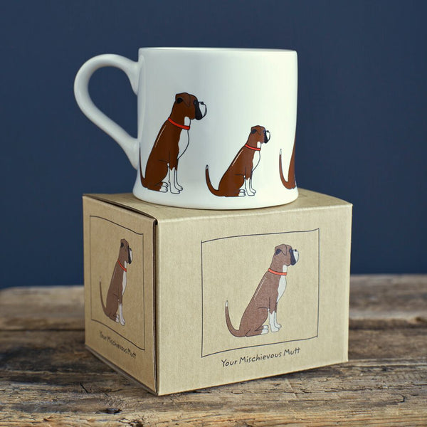 Boxer Mug By Sweet William