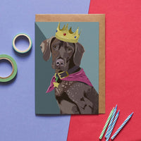 Pointer Dog Greeting Card By Lorna Syson