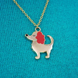 Cute Dog Charm Necklace By Hoobynoo