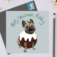 Christmas French Bulldog Dog Greeting Card By Lorna Syson