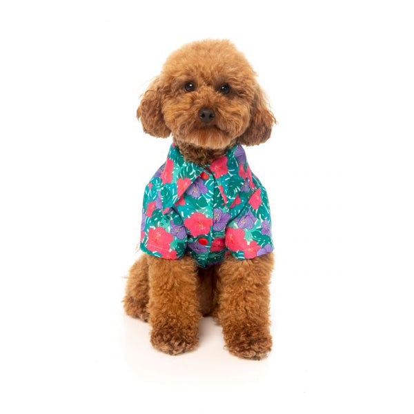 Tropical Floral Lahania Hawaiian Shirt By FuzzYard