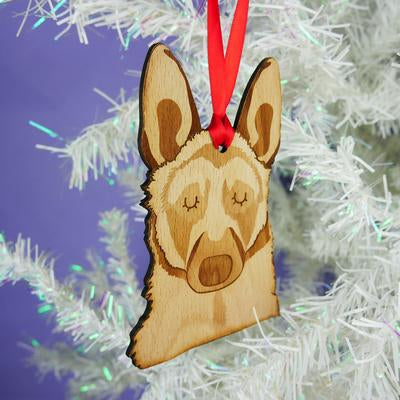 German Shepard Dog Wooden Decoration By Hoobynoo