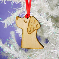 Golden Retriever Dog Wooden Decoration By Hoobynoo