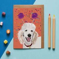 Poodle Dog Greeting Card By Lorna Syson