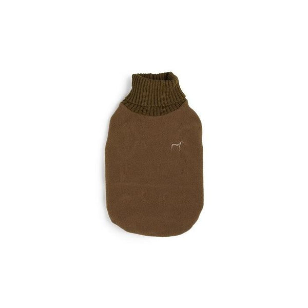 Dog Fleece & Knit Jumper Chocolate By House Of Paws