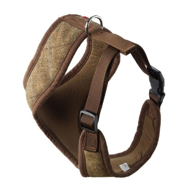 Memory Foam Tweed Dog Harness By House Of Paws