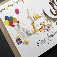 Birthday Dog Greeting Card By Illustrations By Abi