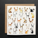 Cat Greeting Card By Illustrations By Abi
