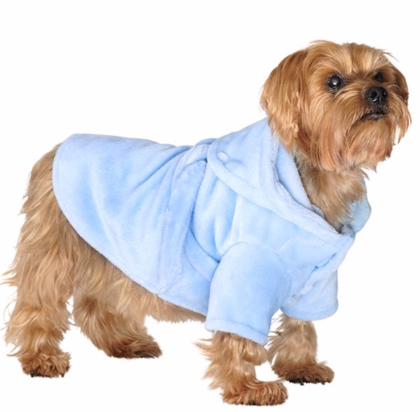 Blue Dog Bath Robe By Urban Pup