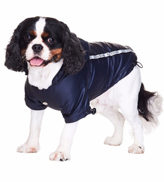 Rainstorm Ink Blue Dog Jacket By Urban Pup
