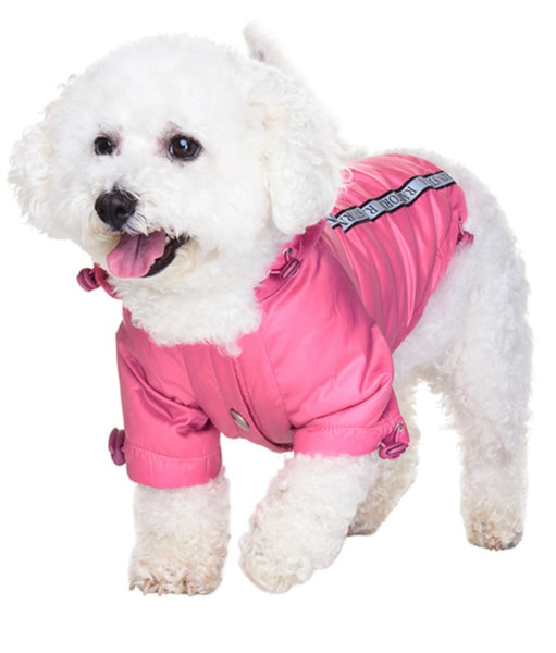 Rainstorm Pink Dog Jacket By Urban Pup