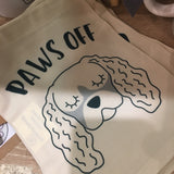 Paws Off Dog Keepsake Bag By Hoobynoo