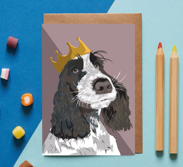 Springer Spaniel Dog Greeting Card By Lorna Syson