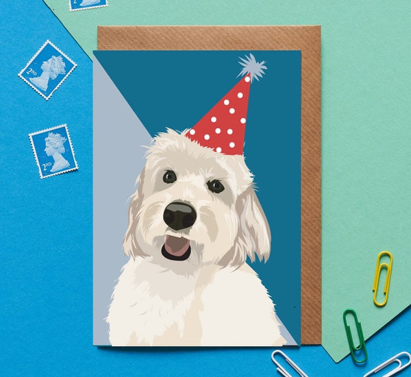 Cockapoo Dog Greeting Card By Lorna Syson