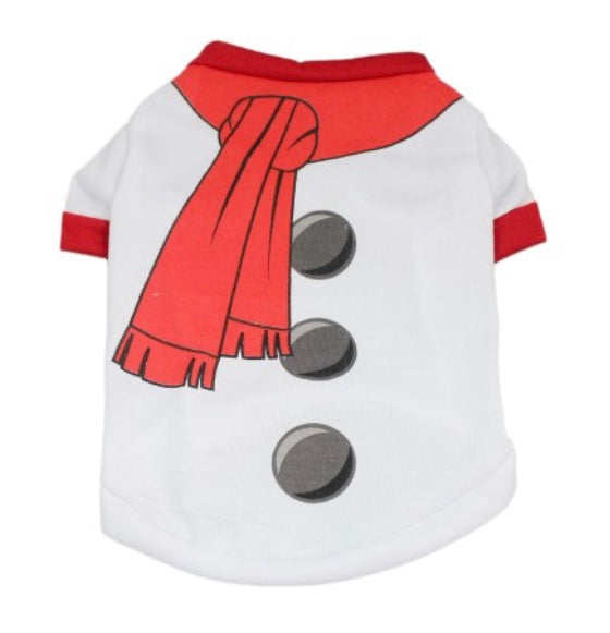 Snowman Christmas Dog T-shirt
