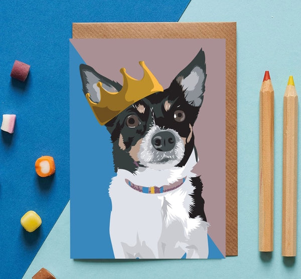 Chihuahua Dog Greeting Card By Lorna Syson