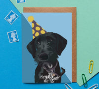 Terrier Dog Greeting Card By Lorna Syson