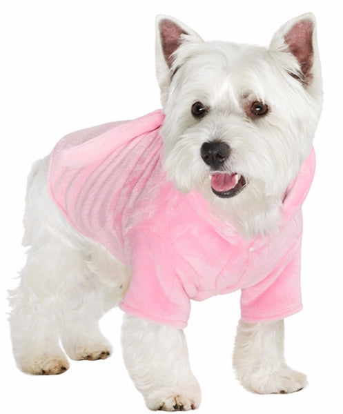 Pink Dog Bath Robe By Urban Pup