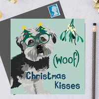 Christmas Havanese Dog Greeting Card By Lorna Syson