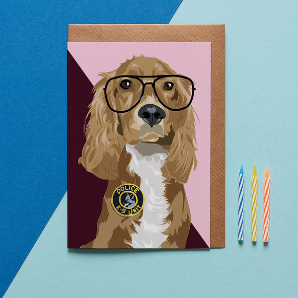Cocker Spaniel Dog Greeting Card By Lorna Syson