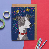 Whippet Dog Greeting Card By Lorna Syson