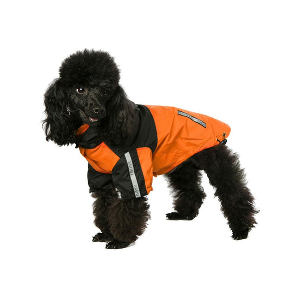 Windbreaker Orange Dog Jacket By Urban Pup
