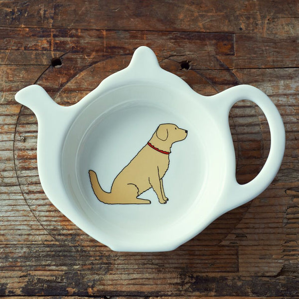 Golden Retriever Tea Bag Dish By Sweet William