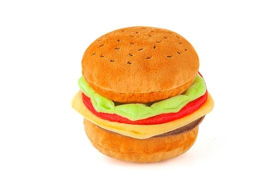 Burger Plush Dog Toy By P.L.A.Y
