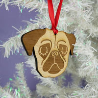 Pug Dog Wooden Decoration By Hoobynoo