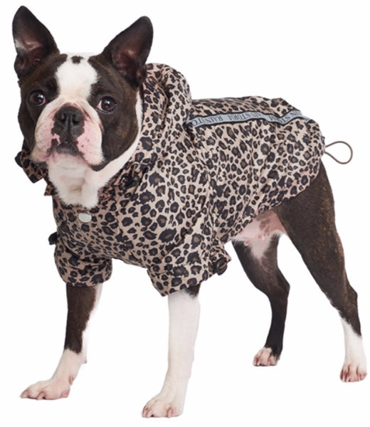 Rainstorm Leopard Print Dog Jacket By Urban Pup