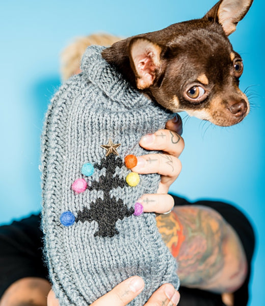 Christmas Tree Dog Festive Jumper By The Distinguished Dog Company