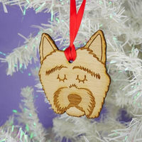 Westie Dog Wooden Decoration By Hoobynoo